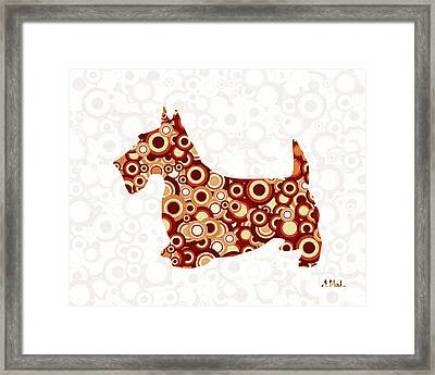 Scottish Terrier - Animal Art Framed Print by Anastasiya Malakhova