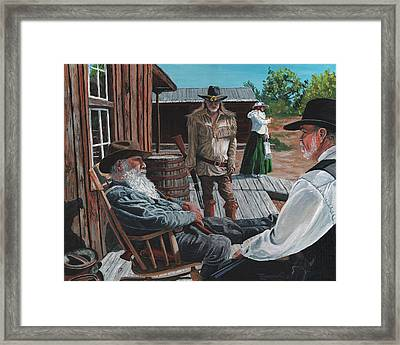 Scouts Report Framed Print by Timithy L Gordon