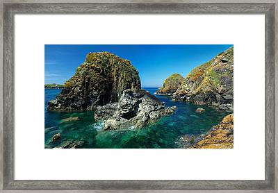 Scovarn Rock At Mullion Framed Print by Pete Hemington
