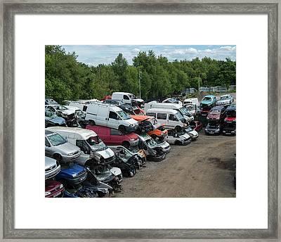 Scrap Cars Framed Print by Robert Brook