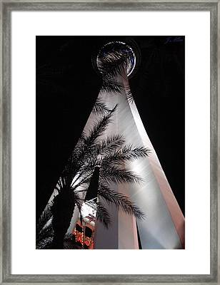 Scraping Paradise Framed Print by J Allen