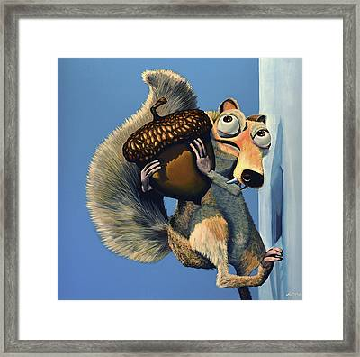 Scrat Of Ice Age Framed Print by Paul Meijering