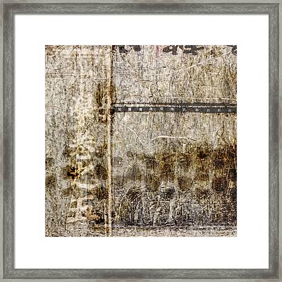 Scratched Metal And Old Books Number 1 Framed Print by Carol Leigh