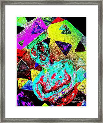 Scream Abstract Art Framed Print by Annie Zeno