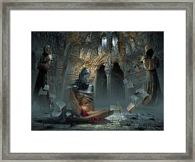 Scream Framed Print by George Grie