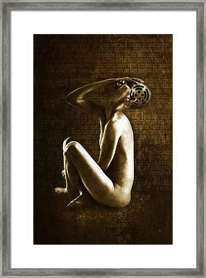 Scream Framed Print by Johan Lilja