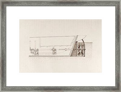 Screw-propelled Ship Framed Print by Science, Industry And Business Library/new York Public Library