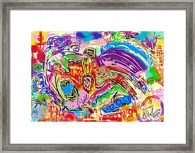 Scribble Framed Print by Gerry Robins