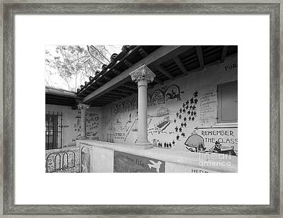 Scripps College Graffiti Wall Framed Print by University Icons