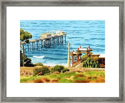 Scripps Pier La Jolla Framed Print by Mary Helmreich