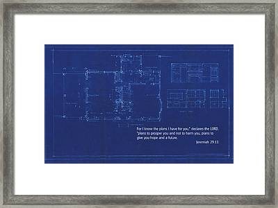 Scripture And Picture Jeremiah 29 11 Framed Print by Ken Smith