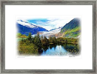 Scripture Art -- Psalm 57-5 Framed Print by Spirit Greetings