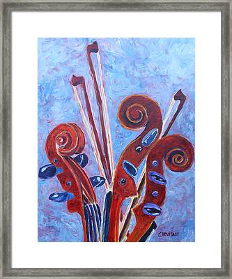 Scroll Bouquet Framed Print by Jenny Armitage