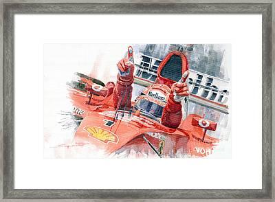 Scuderia Ferrari Marlboro F 2001 Ferrari 050 M Schumacher  Framed Print by Yuriy  Shevchuk