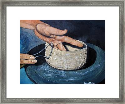 Sculpted By The Masters Hands Framed Print by Karon Melillo DeVega