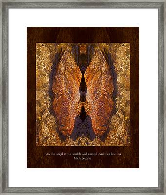 Sculpting An Angel Framed Print by Omaste Witkowski