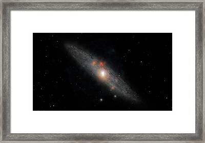 Sculptor Galaxy Framed Print by Nasa/jpl-caltech/jhu