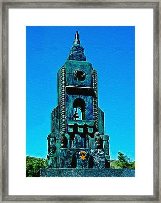Sculpture From Found Objects Framed Print by Bob and Nadine Johnston