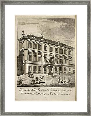 Sculpture Gallery And Workshop Framed Print by British Library