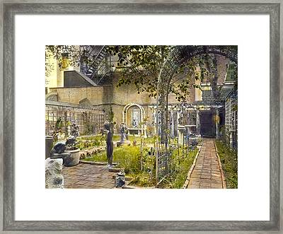 Sculpture Garden Framed Print by Terry Reynoldson