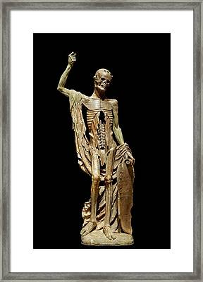 Sculpture In The Louvre Framed Print by Mountain Dreams