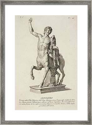 Sculpture Of Centaur From Italy Framed Print by British Library