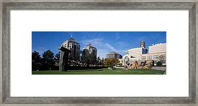 Sculptures In A Garden, West Garden Framed Print by Panoramic Images