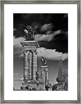 Sculptures Of Paris Framed Print by Mountain Dreams