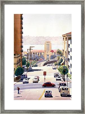 Sd County Administration Building Framed Print by Mary Helmreich