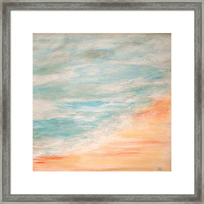 Sea And Sand Framed Print by Debi Starr