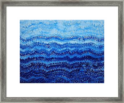 Sea And Sky Original Painting Framed Print by Sol Luckman