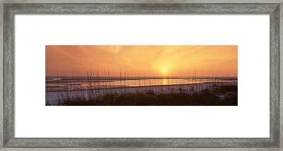 Sea At Dusk, Gulf Of Mexico, Tigertail Framed Print by Panoramic Images