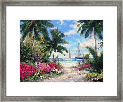 Sea Breeze Trail Framed Print by Chuck Pinson