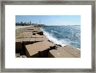Sea Defences Framed Print by Chris Hellier