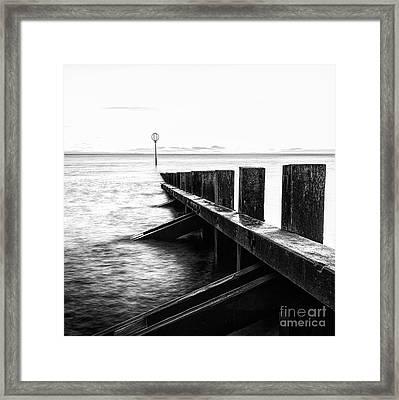 Sea Defences Portobello Framed Print by John Farnan