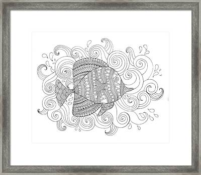 Sea Fish 1 Framed Print by Neeti Goswami