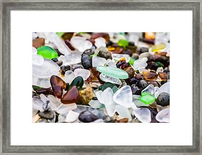 Sea Glass Close Up Framed Print by Priya Ghose