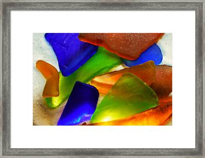 Sea Glass II Framed Print by Sherry Allen