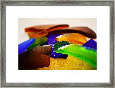 Sea Glass IIi Framed Print by Sherry Allen