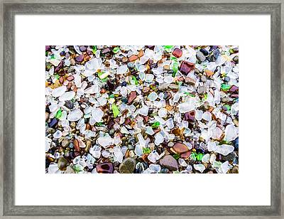 Sea Glass Treasures At Glass Beach Framed Print by Priya Ghose