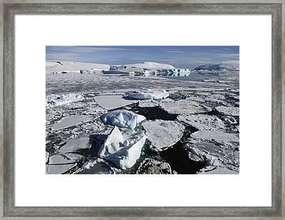 Sea Ice Weddell Sea Antarctica Framed Print by Hiroya  Minakuchi
