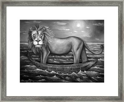 Sea Lion In Bw Framed Print by Leah Saulnier The Painting Maniac