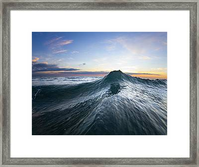 Sea Mountain Framed Print by Sean Davey