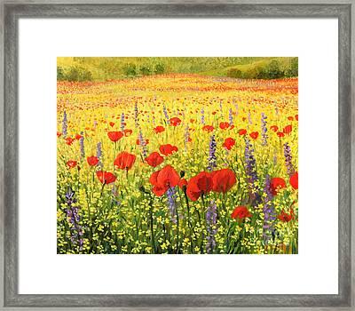 Sea Of Blossom Framed Print by Kiril Stanchev
