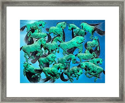 Sea Of Chaos Framed Print by Betsy C Knapp