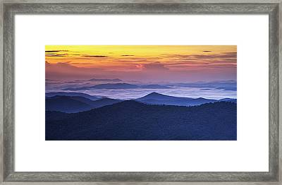 Sea Of Clouds At Sunrise Framed Print by Andrew Soundarajan