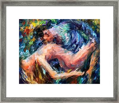 Sea Of Feelings - Palette Knife Oil Painting On Canvas By Leonid Afremov Framed Print by Leonid Afremov