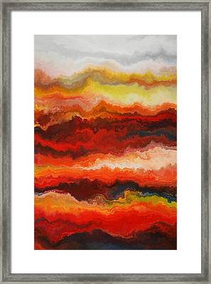Sea Of Fire  Framed Print by Andrada Anghel