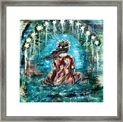 Sea Of Love Framed Print by Carrie Joy Byrnes