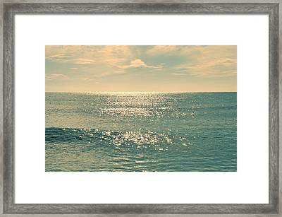 Sea Of Tranquility Framed Print by Laura Fasulo